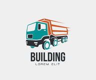 Tip truck abstract icon logo  on white background.  Royalty Free Stock Photo