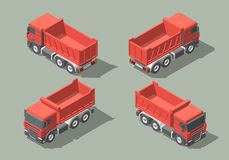 Tip truck isometric icon vector graphic illustration design. infografic. Tip truck isometric icon vector graphic illustration design for infografic Stock Image