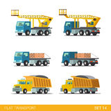 Tip truck tipper hopper lorry crane:  building transport Royalty Free Stock Images