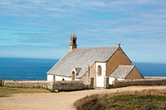 The tip of Van, chapel Saint They (Cléden, Finistere, Brittany, France) Royalty Free Stock Photography