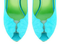 The tip of woman shoes isolated on white Royalty Free Stock Photography