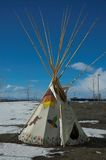 Tipi. Indian tipi painted for children with deep blue sky in background Stock Photography