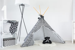 Tipi for baby boy stock photo