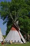 Tipi at a campsite Royalty Free Stock Photo