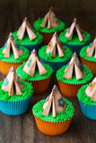 Tipi cupcakes Stock Foto's