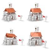 tipi della costruzione 3D che costruiscono una casa Fotografia Stock Libera da Diritti