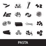 Tipi di alimenti eps10 della pasta Immagini Stock Libere da Diritti