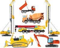 Tipi di attrezzature per l'edilizia Immagini Stock Libere da Diritti
