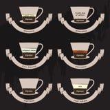 Tipi di caffè Immagine Stock