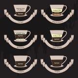 Tipi di caffè Immagini Stock Libere da Diritti