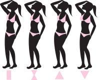 Tipi di corpo 1 Fotografia Stock Libera da Diritti