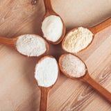 Tipi di farine Fotografia Stock