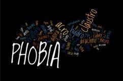 Tipi di fobie Immagine Stock Libera da Diritti