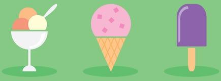 Tipi di gelati Fotografie Stock