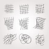 Tipi di griglie di caos fissate su bianco Fotografia Stock