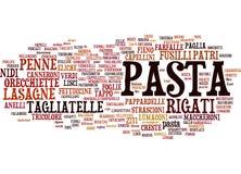 Tipi di nubi del testo della pasta Fotografia Stock Libera da Diritti