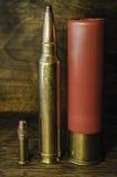3 tipi di pallottole Fotografie Stock