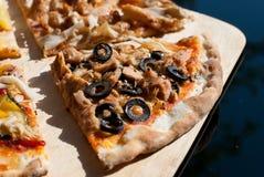 4 tipi di pizze Fotografia Stock Libera da Diritti