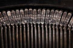 Tipi di primi piani d'annata della macchina da scrivere Immagini Stock