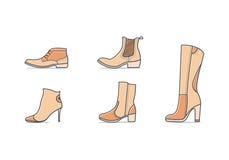 Tipi di scarpe Fotografia Stock Libera da Diritti
