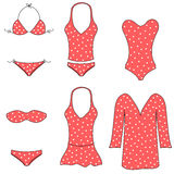 Tipi di swimwear delle donne Immagine Stock