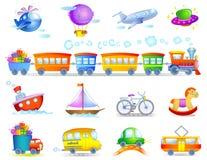 Tipi di trasporti Fotografia Stock