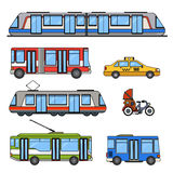 Tipi di trasporti della città Immagine Stock Libera da Diritti