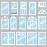 Tipi di Windows Fotografia Stock