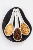 Tipi di zuccheri di canna marroni Fotografie Stock Libere da Diritti