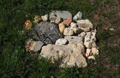 Tipi differenti della roccia vigne dei Bordeaux, Francia Immagini Stock