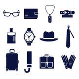 Tipi differenti di accessori dell'uomo royalty illustrazione gratis
