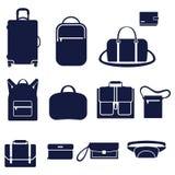 Tipi differenti di borse degli uomini Illustrazione Vettoriale