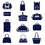 Tipi differenti di borse delle donne Illustrazione Vettoriale