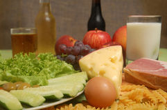 Tipi differenti di calorie Immagini Stock Libere da Diritti