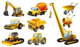 Tipi differenti di camion della costruzione Immagine Stock