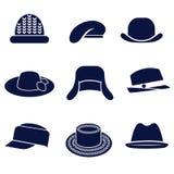 Tipi differenti di cappelli delle donne Illustrazione Vettoriale