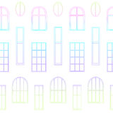 Tipi differenti di finestre Immagini Stock