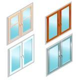 Tipi differenti di finestre nella vista isometrica Royalty Illustrazione gratis
