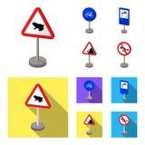 Tipi differenti di fumetti dei segnali stradali, icone piane nella raccolta dell'insieme per progettazione Vettore dei segni di p Immagine Stock
