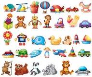 Tipi differenti di giocattoli illustrazione vettoriale