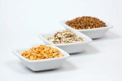 Tipi differenti di granuli Fotografia Stock