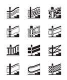 Tipi differenti di inferriate illustrazione di stock