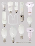 Tipi differenti di lampadine Fotografia Stock Libera da Diritti