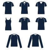 Tipi differenti di magliette degli uomini Illustrazione di Stock