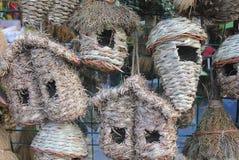Tipi differenti di nidi dell'uccello Fotografie Stock Libere da Diritti