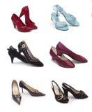 Tipi differenti di scarpe della donna Fotografia Stock