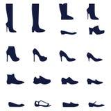 Tipi differenti di scarpe delle donne Royalty Illustrazione gratis