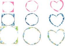 Tipi differenti di telai per le foto Immagini Stock