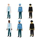 Tipi differenti di uniformi Fotografia Stock Libera da Diritti