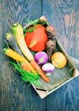 Tipi differenti di verdure Fotografia Stock